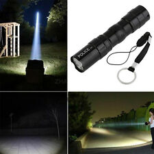 3W Waterproof Super Bright LED Flashlight Focus Torch Lamp With Hand Strap DT