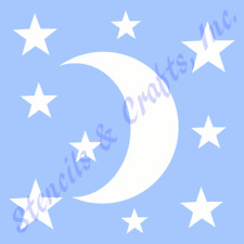 MOON STENCIL STARS STAR CELESTIAL TEMPLATE TEMPLATES CRAFT STENCILS CRAFT NEW