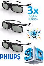 3 x Philips Active 3D Brille PTA509 3D Max TV PTA509/00 echte Neu 3D Brille