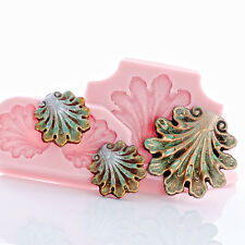 Shell Scroll Work Silicone Mold Food Safe Craft Resin Jewelry Polymer Clay (274)