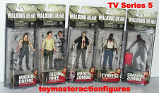 The Walking Dead TV SERIES 5 McFARLANE ALL 5 NEW FIGURES MOMC IN STOCK NOW