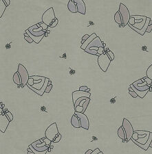 Fat Quarter Sunbonnet Sue Cotton Quilting Fabric- 50cm x 55cm - Mushroom