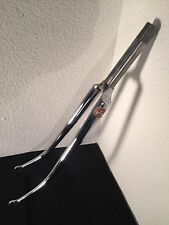 "Peugeot Super Vitus 980 chromed steel fork vintage 700 fourche course 1"" 2"