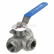 DN15 G1/2'' Female 3-Way L-Port 304 Stainless Steel Ball Valve Water Oil