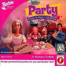 Barbie Party Print 'n Play Mattel Media Video Game