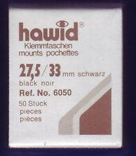 hawid 6050   50 Zuschnitte 27,5x33 mm schwarz