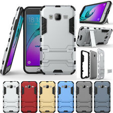 Hybrid Rugged Shockproof Rubber Stand Case For Samsung Galaxy On5/G5500-Silver