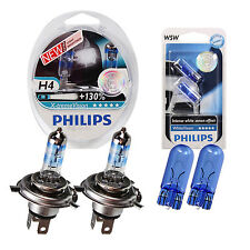 SET Philips X-treme Vision +130% 2x H4 White Vision Xenon Ultimate W5W