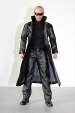 1/6 Scale Clothing Set Action Figure Long Leather Coat Pants With Shoes Models