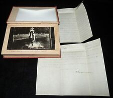 Charmian London (widow of Jack London) typed signed letter 1930 &  Photo