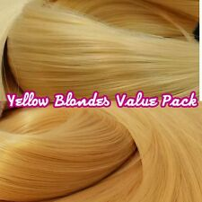 Yellow Blondes XL 4oz 2 Color Value Pak Nylon Hair Reroot Barbie Ever After High