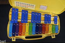 Métallophone carillon chromatique glockenspiel xylophone 25 notes lames colorées