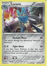 POKEMON CARD XY FATES COLLIDE - LUCARIO 63/124  HOLO