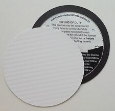 magnetic tax disc holder WHITE carbon fibre Fits lexus lotus maserati corsa ford