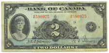Bank of Canada 1935 $2 Two Dollars Queen Mary English Solid Fine+