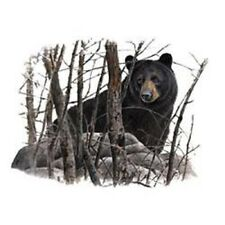 """BEAR, BLACK in the Woods one ONE 18"""" x 22"""" Fabric Panel to Sew. Pic is 11""""x14""""."""