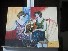 "Oil Painting-Stretched-16""x20"" Tarkay Style Girls"