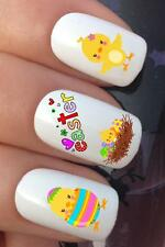 WATER NAIL TRANSFERS EASTER CHICKS NEST & FUNNY EGGS WATER DECALS STICKERS *637