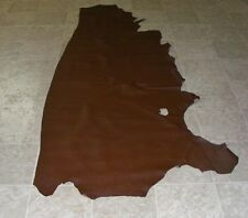 WWE6778-1) Side of Red Brown Raised Reptile Print Cow Leather Hides Skin