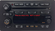 GM Delco CD6 radio FACE. Worn buttons? Solve it with this new OEM part. (org)