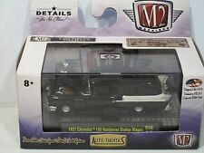 M2 Auto Thentics 1957 Chevy 150 Handyman Station Wagon R39 16-25 NEW Black