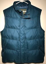 EDDIE BAUER EB550 Teal Green Goose Down Quilted Puffer Vest Men's Size M