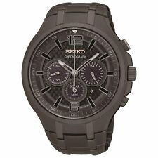 Seiko Solar Chronograph Gunmetal Grey Mens Watch SSC453P9