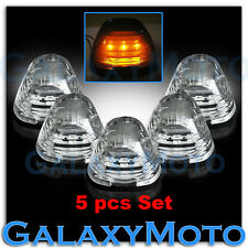 99-15 Ford Super Duty F250+F350+F450 5pcs Cab Roof AMBER LED Lights CLEAR Lens