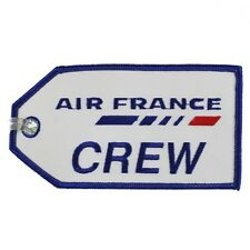 13127 AIR FRANCE CREW AIRLINES AIRWAYS AVIATION TRAVEL FABRIC LUGGAGE BAG TAG