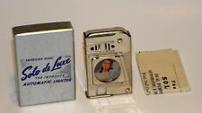 1950 ART DECO IMCO NY SOLO WINDPROOF FEMALE BEAUTY SWEETHEART PHOTO LIGHTER MIB