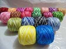 20 x VARIEGATED ANCHOR PEARL COTTON CROCHET BALLS EMBROIDERY THREADS BEST PRICE