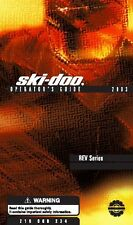 Ski-Doo owners manual book 2003 MX-Z Blair Morgan Special Edition & MX Z X 440