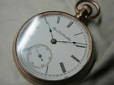 Reloj de bolsillo Elgin Watch Co. illinois de 1888 verschraubtes carcasa, dorados