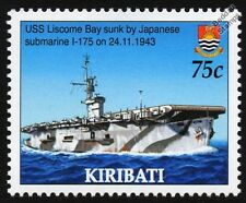 USS LISCOME BAY (CVE-56) Casablanca-Class Escort Aircraft Carrier Warship Stamp