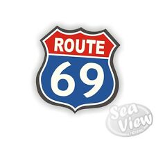 Route 69 Highway America Car Van Stickers Decal Bumper Sticker