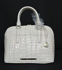 NWT Brahmin Vivian Satchel/Shoulder Bag in Quartz La Scala - Very Light Peach