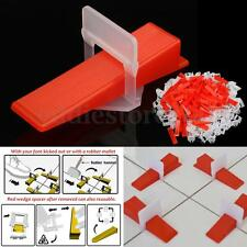 300Kit Tile Leveling System Plastic Tiling Flooring Tools 200 Clips + 100 Wedges