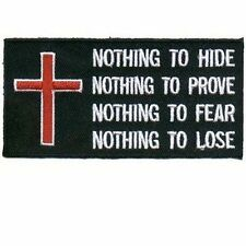 Nothing Patch Embroidered Christian Bible Jesus Church CMA Biker Patch PAT-1335