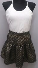 KOOKAI BLACK GOLD SHELL SKIRT SIZE EUR 38 (loc.50)