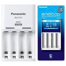Panasonic NiMH AA AAA Rechargeable Battery Eneloop Chargeur BQ-CC51 AC100-240