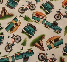 Outdoor Adventure Angela Anderson Quilting Treasures BTY Camping Trailer Toss