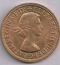 1967 Unc Uk 1/2 Penny Full Red Ms-64
