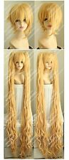 THE LATEST Cos Blonde Party Short  Hair Wig+150CM Ponytail