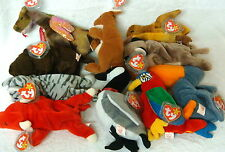 10 Pack Wholesale Lot-Ty Beanie Babies- All 1998 & Earlier/Snort/Pouch/Roam++ 5A