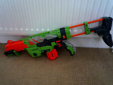 NERF GUN VORTEX PRAXIS WITH EXTENDED STOCK AND CARTRIDGE