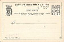 B95267 etat independant du congo carte postale heraldic africa