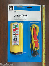 Ideal 61-066 Voltage Tester W/ Standard Leads and Insulated Clips