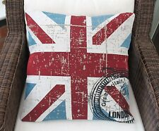 UNION JACK  GREAT BRITAIN CUSHION COVER 18""