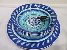 Il Mulino Melamine Floral Dinner Dinner Plates Bowls NWT Set of 8