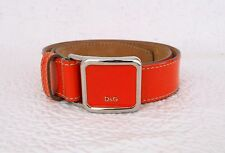 DOLCE & GABBANA cintura donna in vernice colore arancione